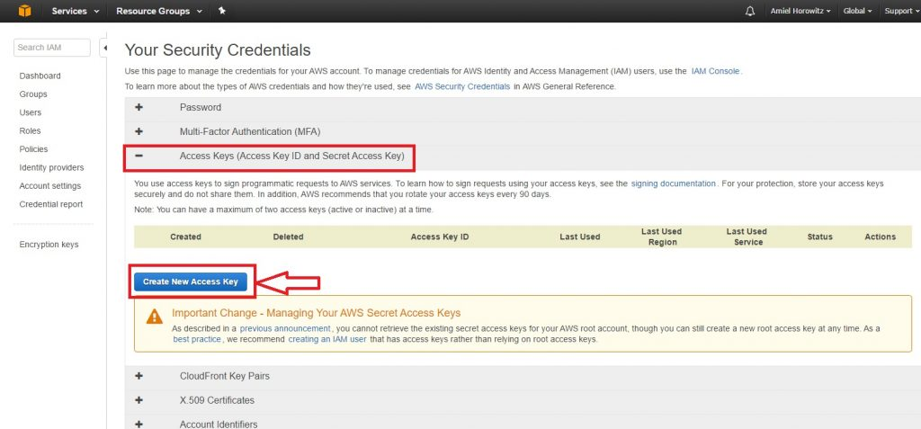 Amazon S3 cPanel Backup Destination