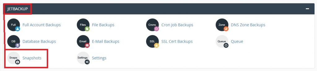 Backup my website with CPANEL snaphots
