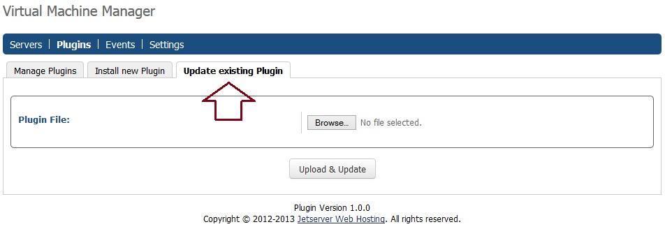 vmm update a plugin